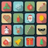 Icônes plates de vecteur de vacances Images stock