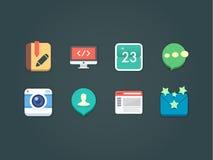 Icônes plates de vecteur pour le Web et le mobile Photo libre de droits