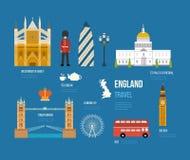 Icônes plates du Royaume-Uni Image stock