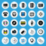 Icônes plates et pictogrammes réglés Photo stock