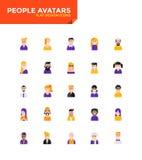 Icônes plates matérielles modernes de conception - avatars de personnes Photos stock