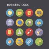 Icônes plates pour des affaires et des finances Image libre de droits