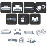 icônes plates pour le magasin d'équipement de bureau Photo stock