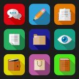 Icônes plates réglées Image stock