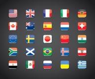 Icônes populaires d'apps de drapeaux de pays illustration libre de droits