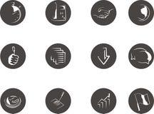 Icônes pour des publications d'affaires Image stock