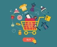 Icônes pour des services de Web et de téléphone portable et des apps illustration stock