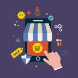 Icônes pour des services de Web et de téléphone portable et des apps illustration de vecteur