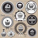 Icônes pour la cuisson et la boulangerie illustration stock