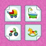 Icônes pour la partie de bébé Image libre de droits