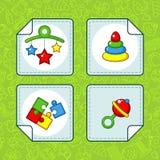 Icônes pour la partie de bébé Image stock