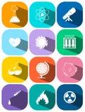 Icônes pour la technologie et la science illustration stock