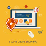 Icônes pour le marketing mobile et en ligne sûr illustration stock