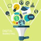 Icônes pour le marketing numérique Photographie stock libre de droits