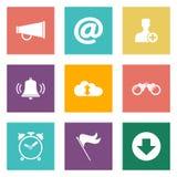 Icônes pour le web design Photo libre de droits