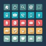 Icônes pour le Web et le mobile Photos stock
