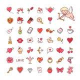 Icônes pour Valentine illustration libre de droits