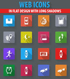 Icônes pulsantes d'apps réglées Photos stock