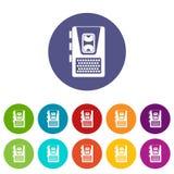 Icônes réglées de dictaphone Images libres de droits