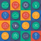 icônes réglées pour des affaires dans la conception plate Vecteur Images stock