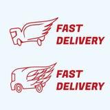 Icônes rapides de vecteur de la livraison Photo libre de droits