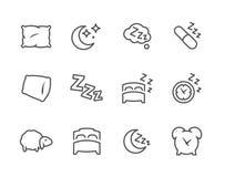 Icônes rayées de puits de sommeil Photographie stock libre de droits