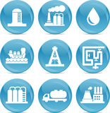 Icônes relatives de pétrole et de gaz illustration stock
