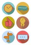 Icônes rondes dans des couleurs de rivière Illustration Libre de Droits