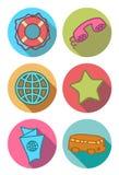 Icônes rondes dans des couleurs lumineuses Illustration Stock