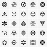 Icônes sacrées de la géométrie Photographie stock