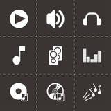 Icônes saines noires de vecteur réglées Images libres de droits