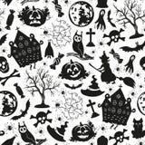 Icônes sans couture de dessin pour Halloween illustration de vecteur