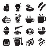 Icônes set1 de petit déjeuner Image stock