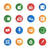 Icônes simples d'affaires Photo stock