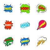 Icônes simples de bulles de la parole d'abréviations réglées Photos stock