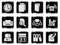 Icônes simples de vecteur d'affaires Image libre de droits