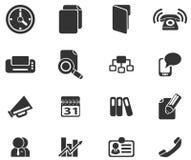 Icônes simples de vecteur d'affaires Photos stock