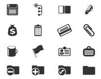 Icônes simples de vecteur de bureau Images stock