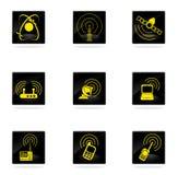 Icônes simples de vecteur de signal radio Photo stock