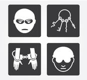 Icônes simples de Web : Crime photos stock