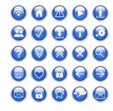 Icônes sociales Images libres de droits