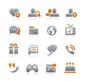 Icônes sociales de communications -- Série de graphite Image libre de droits