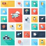 Icônes sociales de media Images stock