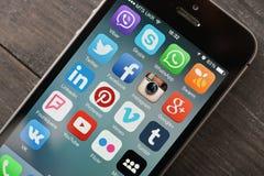 Icônes sociales de media Image stock