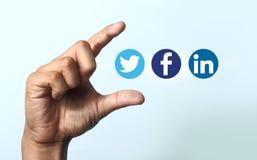 Icônes sociales de media Images libres de droits