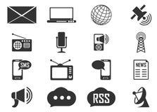 Icônes sociales de media Image libre de droits
