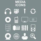 Icônes sociales de media Photo libre de droits