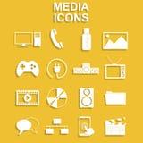 Icônes sociales de media Photographie stock
