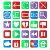 Icônes sociales de navigation de Web de réseau réglées Image libre de droits