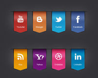 Icônes sociales réglées illustration de vecteur